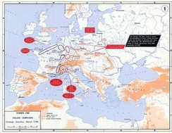 Strategic situation in Europe in 1796