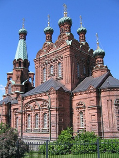 Church of Alexander Nevsky and Saint Nicholas in Tampere, built late 19th-century