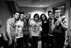 Backstage at McFly's Above the Noise Tour