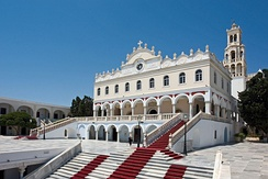 Our Lady of Tinos is the major Marian shrine in Greece