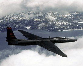 A U-2 reconnaissance aircraft in flight