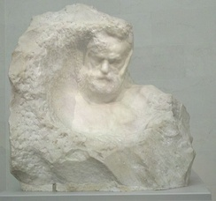 Marble bust of Victor Hugo by Auguste Rodin