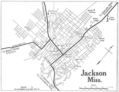 Map of Jackson in 1919