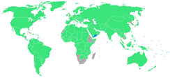 Participants (blue nations had their first entrance).