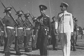King Ananda Mahidol and Louis Mountbatten on 19 January 1946