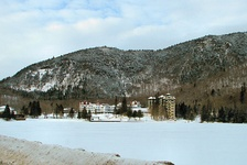 "The Balsams Grand Resort Hotel in Dixville Notch, the site of the first ""midnight vote"" in the New Hampshire primary"