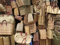 Baskets for sale  in the island of La Réunion, east of Madagascar