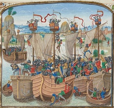 Battle of La Rochelle. Castilian army, formed by Cantabrians from the Brotherhood of the Four Cities, defeated the English army, getting the control of the English Channel for the Crown of Castile.