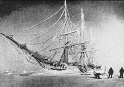 RV Belgica frozen in the ice, 1898