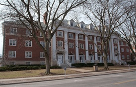 Busey-Evans Residence Halls is one of many buildings on the NRHP