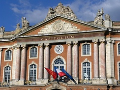 The Capitole de Toulouse, Toulouse's city hall, is an example of the 18th-century architectural projects in the city.