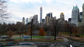 Central Park, New York City, US, designed by Frederick Law Olmsted.