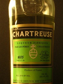 Green Chartreuse liqueur protected by confidential information of the ingredients