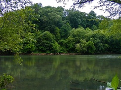 The Chattahoochee River National Recreation Area in northwestern Atlanta