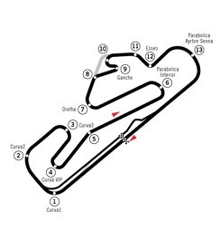 The Estoril circuit after modifications, used from 1994 to 1996