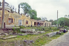 Cemetery of the Defenders of Lwów in 1997, after decades of neglect.