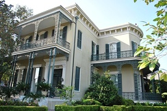 Colonel Short's Villa in New Orleans Garden District was the residence of Major General Nathaniel P. Banks, U.S. Commander, Department of the Gulf