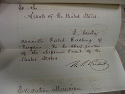 Cushing's Chief Justice nomination
