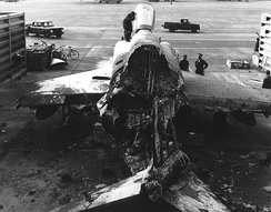 USAF F-4 Phantom II destroyed on 18 February 1968, during the enemy attack against Tan Son Nhut, during the Tet Offensive