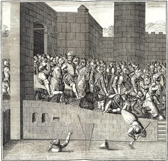 Entrance of Henry IV in Paris, 22 March 1594, with 1,500 cuirassiers.