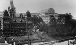 Festival of Empire 1911 with the Canadian Building in the foreground