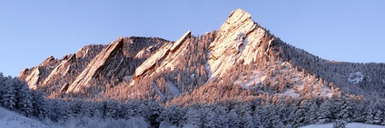 Boulder's iconic rock formations, the Flatirons