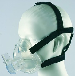 Note: the CPAP mask shown in the photo is an adult model.
