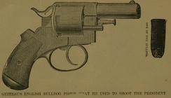 An illustration of Guiteau's revolver