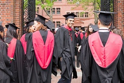 Harvard Class of 2015 graduates in Harvard Yard