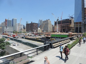 Hudson Yards under construction in 2015