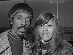 Ike & Tina Turner arriving at Amsterdam Airport Schiphol in 1971
