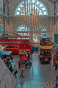 London Transport Museum main hall