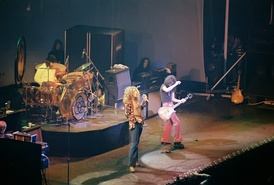 Led Zeppelin live at Chicago Stadium, January 1975.