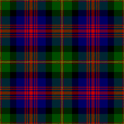The Logan and MacLennan tartan first published by James Logan in 1831