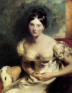Marguerite, Countess of Blessington. Painted by Thomas Lawrence in 1822.