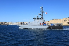 Protector class patrol boat P52 of the Maritime Squadron of the Armed Forces of Malta.