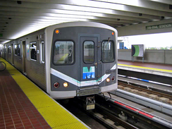 The Miami Metrorail is the city's rapid transit system and connects the city's central core with its outlying suburbs