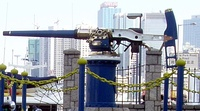 The Noonday gun at Causeway Bay, Hong Kong