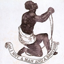 """Am I Not a Man and a Brother?"", 1787 medallion designed by Josiah Wedgwood for the British anti-slavery campaign"