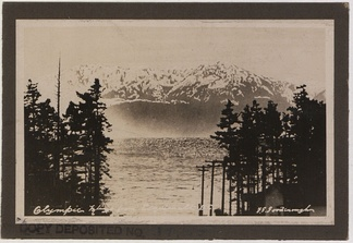 Olympic Mountains from Esquimalt, BC, 1921, F.G. Goodenough photographer