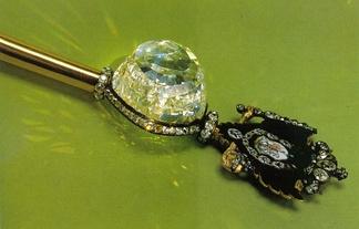 Верхняя часть Императорского скипетра с бриллиантом «Орлов»