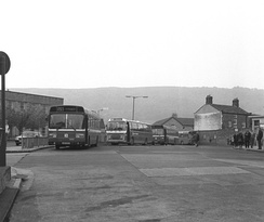 Otley bus station in May 1983