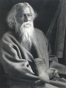 Rabindranath Tagore (1861–1941) was a Bengali language poet, short-story writer, and playwright, and in addition a music composer and painter, who won the Nobel prize for Literature in 1913.