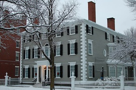 Stephen Phillips House (1800 by Samuel McIntire) in Salem, Massachusetts, added in 1983.