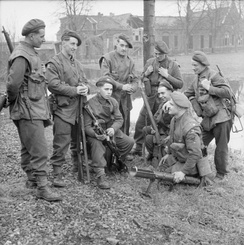 British soldiers of the King's Own Yorkshire Light Infantry in Elst, Netherlands on 2 March 1945