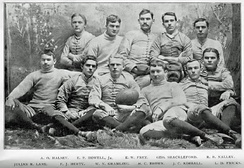 The first football squad at the University of Georgia in 1892.