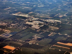 Wakarusa from the air, looking east