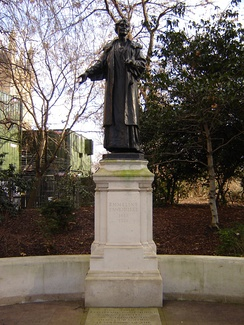 "Pankhurst's statue was erected with unusual speed, as noted by the New York Times: ""While the transition from martyrdom to sculptured memorials is familiar, the process in Mrs Pankhurst's case has been unusually brief.""[124]"