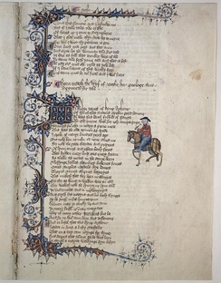 "Opening prologue of ""The Wife of Bath's Tale"" from the Canterbury Tales"