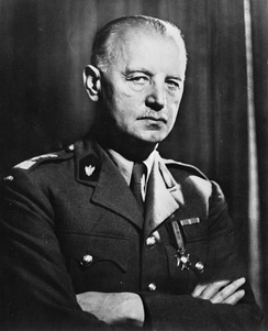 Wladyslaw Sikorski, Polish military and political leader of the Polish government in exile during World War 2